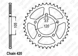 Kit trasmissione Aprilia 50 Mx Sm 02 03