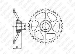 Kit trasmissione Aprilia 50 Rs Replica