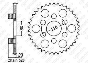 Kit trasmissione Aprilia 125 Af1 Replica
