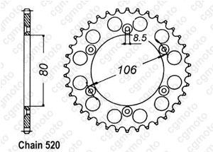 Kit trasmissione Aprilia Rx 125 R/E