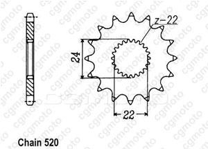 Kit trasmissione Aprilia Mx 125 Sm