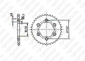 Kit trasmissione Aprilia 450/550 Rxv