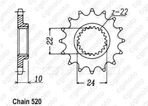 Kit trasmissione Aprilia 650 Moto Starck