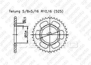 Kit trasmissione Aprilia Rst 1000 Futura