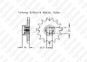 Kit trasmissione Aeon 50/100 Cobra