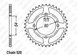 Kit trasmissione Aeon 125/180 Cobra