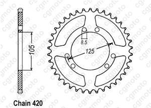 Kit trasmissione Bultaco 50 Sm Astro