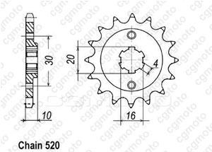 Kit trasmissione Cagiva 125 Mito Evolution