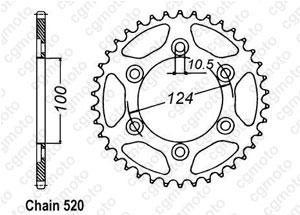 Kit trasmissione Ducati 620 Monster Ie