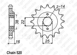 Kit trasmissione Ducati 620 Multistrada