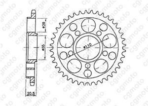 Kit trasmissione Ducati 748 R