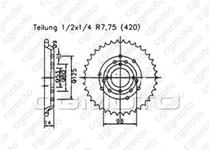 Kit trasmissione Derbi Senda 50 L/Sm