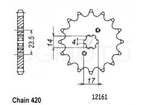 Kit trasmissione Derbi Senda 50 X-treme