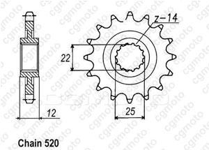Kit trasmissione Gas Gas Ec 400/450 Fse