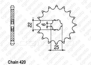 Kit trasmissione Honda Mtx 50