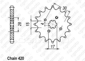 Kit trasmissione Honda Xr 70 R