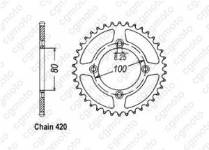 Kit trasmissione Honda Xr/Cr-f 70 R