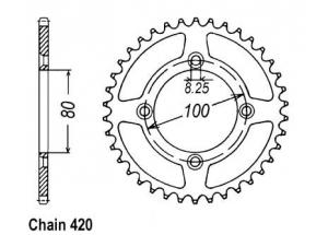 Kit trasmissione Honda Xr 80 R