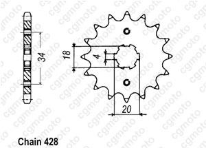 Kit trasmissione Honda Cb 125 T2 / Twin