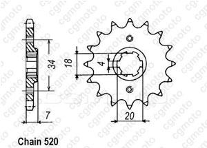 Kit trasmissione Honda Nsr 125 Tc 01