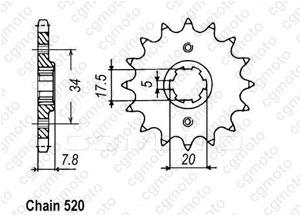 Kit trasmissione Honda Nsr 125 R/F