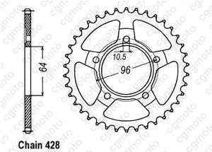 Kit trasmissione Honda Xlr 125 Jd04
